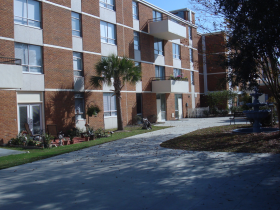 Rear View of Residential Building