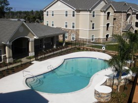 Pool Area and Residential Building